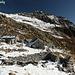 Alpe di Ribia con capanna e Salariél sullo sfondo