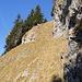 Steilstelle bei der Umgehung des Leiststocks (Blick zurück)