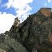 Letzte Meter vor dem Gipfel Piz Mezdi