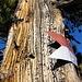 """gefiel uns ausserordentlich, diese alte Holzstruktur und der """"historische"""" Wegweiser"""