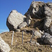 Markante Felsformation unter dem Gipfel des Speermürli.