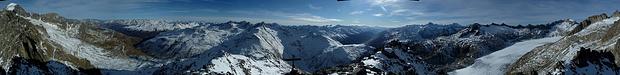 360°-Panorama vom Kleinen Furkahorn.