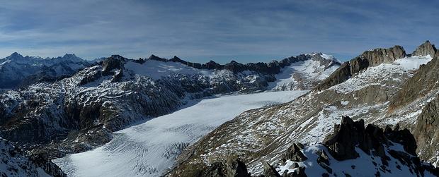 Panorama Rhonegletscher.