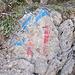 Blau-rote Markierungskombination
