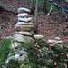 Foto vom 4.HIKR-Treffen in Cholihütte am 12./13.11.2011.<br /><br />Ein Steinmännchen im engen Tal überhalb Töbeli beim P.867m welcher zum Einstieg der Schwarzenberg Ostwand führt.