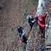 Foto vom 4.HIKR-Treffen in Cholihütte am 12./13.11.2011.<br /><br />Herrliche Nagelfluhkletterei im mittleren Teil der Schwarzenberg Ostwand.