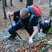 Foto vom 4.HIKR-Treffen in Cholihütte am 12./13.11.2011.<br /><br />Nagelfluhprofi Christian meistert die Nagelfluhstufen suverän!