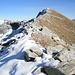 Dal Mött di Pègor (2169 m) sguardo all'indietro verso la cima del P.d'Orgnana