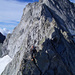 Exponierte Kletterei am langen Seil und in bestem Fels gegen den Castello