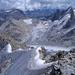 Die Resten des einst spitzen Firngrates zur Cima dal Cantun
