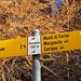 I cartelli ufficiali della segnaletica a Porchesio indicano la tratta per il Madone quale alpina in bianco-blu-bianco, in realtà la cresta non presenta difficoltà, la classificazione della stessa e dell'intera escursione è secondo me T3.<br />
