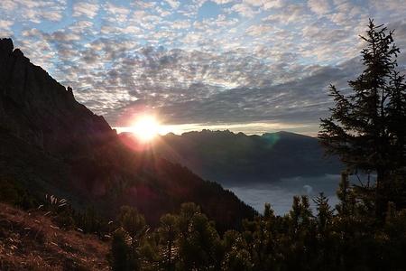 Sonnenuntergang hinterm Alvier
