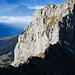 beeindruckende Felswand gegenüber