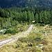 Einen großen Teil des Weges verläuft der Wanderweg neben der schon lange stillgelegten Einseilbahn.
