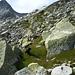 Wegspuren folgend und ein paar fernen Steinmännern folgend - nicht wissend, dass wir schon längst falsch abgebogen waren...