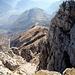 La discesa lungo il sentiero Cresta Cermenati, n°7.