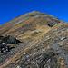 Kurz vor dem steilen Gipfelanstieg