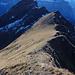 Schöner Wegabschnitt  über den  Grat, am Schluss kurze Steilstufe