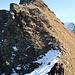 Sullo sfondo la  Cima senza nome appena scalata