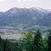 Oberstdorf u. Nebelhorn vom Sattelkopf