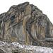 Le Sérac - grandiose Westwand. Sieht nach forderndem Klettergelände aus - vielleicht etwas feucht.