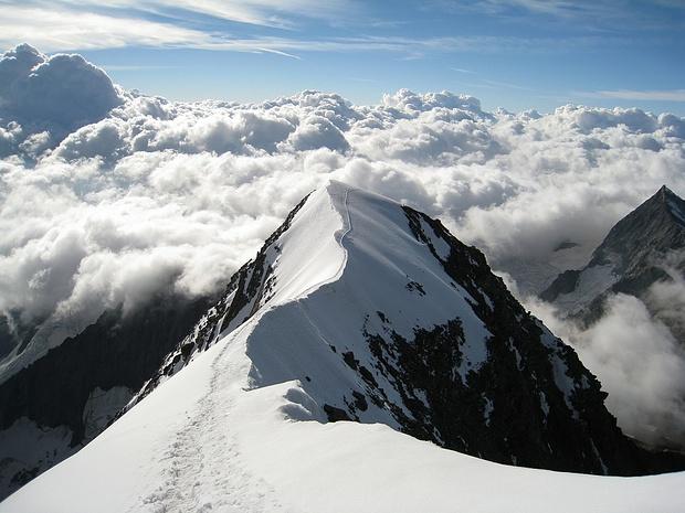 Ein wahrer Traum - Gipfelgrat zum Weissmies 4017m