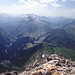 Blick nach Westen auf das Lechquellengebirge