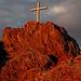 Gipfelkreuz im Abendrot