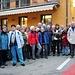 die Gruppe vor dem Schlusstrunk-Restaurant in Baceno