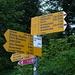 Panneau indicateur au départ de la randonnée