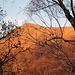 tramonto sul motto della Croce dal sentiero dei monti di Roveredo
