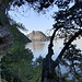 Auf dem Uferweg von Cantine di Gandria zum Val Ruina.