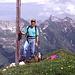 Mein Spezi auf dem Pimig-Gipfel,rechts hinten Wetterspitze und Feuerspitze