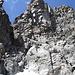 Rückblick auf die Einstiegsstufe beim Abstieg