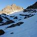 Blick zum Sassfirn, links Kröntenlücke und den Schneehüener Stock.