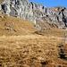 Vor Bützi auf etwa 1980 Metern Höhe zweigt der blau/weiss markierte Bergweg  ab. Auf diesem bis Ober Boden.
