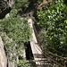 Unterwegs in den Los Cahorros de Monachil (Rückweg) - Rückblick an der Hängebrücke, Puente Colgante de Los Cahorros.