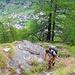 Schöne Tiefblicke auf Täsch beim Aufstieg