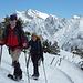 Fast schon auf dem Gipfel mit prächtigem Hintergrund - Rekotour auf den Stockberg