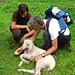 Ronny und Pius, mit dem verletzten Lamm gut bei der Hütte angelangt