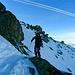 im Aufstieg zum Sentischhorn