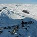 noch etwas steinig, der Gipfelaufbau des Sentischhorns