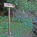 """Kilometro Verticale. Indicazione n° 10, """"Prati di Lagünc 1284 m"""""""