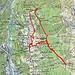 Ungefähre Route Braccio-Alp di Fora