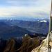 Vista dal terrazzo, a sinistra il S.Primo, a destra Galbiga, Monti di Tremezzo e Crocione