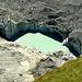 Tief unter Schuttmassen begraben das derzeitige (aktive) Ende des Unteren Grindelwaldgletschers