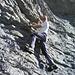 pause am Felsen vom Chilchberg, ich musste ein wenig herum kraxeln. (Natel Bild von Petra)