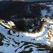 Neve e ghiaccio insidioso sul Corno Occidentale.