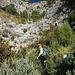 Aufstieg zum Höhenweg über dem Barranco de los Cazadores