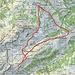 Ungefähre Route Schönhalde - Pfufisegg